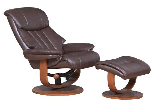 The Hereford Genuine Top Grain Leather Swivel Recliner