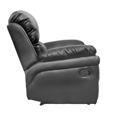 Madison Leather Recliner Armchair Sofa Home Lounge Chair