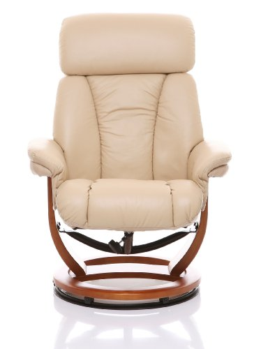 The Saigon Genuine Leather Recliner Swivel Chair
