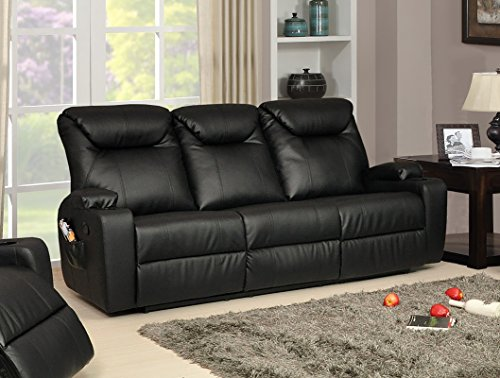 Lovesofas new luxury cinema lazy boy 3 seater bonded Leather lazy boy sofa