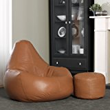 ... Luxury Real Leather Bean Bag - XXL Giant Recliner in Tan Leather - ICON Designer Bean Bags ... & Julian Bowen Malmo Recliner and Footstool Black - Leather ... islam-shia.org