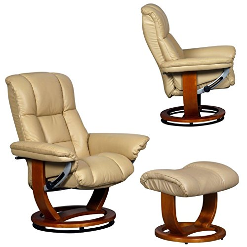 The Windsor Grande Genuine Leather Recliner Swivel Chair